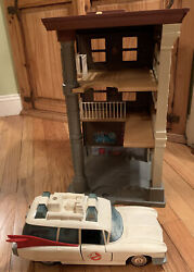 Vintage 1987 Kenner Real Ghostbusters Firehouse Play Set And Echto Ambulance Car