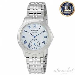 Citizen Exceed Watch Aq5000-56d Menand039s Silver Analog Round Face Eco Drive