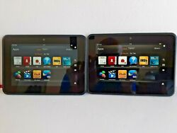 Lot Of 2 Kindle Fire Hd 16gb/32gb Wi-fi 7in X43z60 Tablet Good Condition