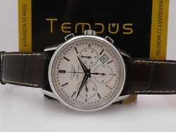 Longines Heritage Chronograph L2.749.4 With Box Automatic Date Steel Watch