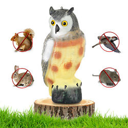 Large Scarecrow Owl Decoy Statue By Realistic Fake Owl Pest And Bird Deterrent