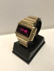 Omega Led Tc-1 Time Computer Pulsar Menand039s Digital Watch Used