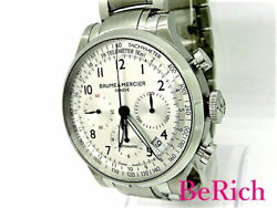 Baume And Mercier Moa10064 Capeland Used Watch Ss Self-winding At Silver Excellent