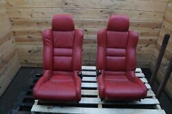 Set Of 2 Left Right Custom Red Leather Heated Andcooled Seats Acura Nsx 90-05 Note