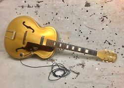 1950and039s Alden By Harmony Gold Archtop Electric Guitar Vintage Read Description