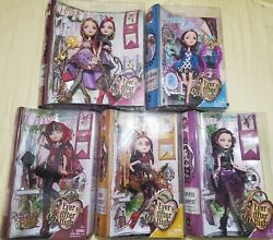 New 2013 Ever After High Doll Lot Holly And Poppy, Cerise, Raven, Lizzie, Madelin
