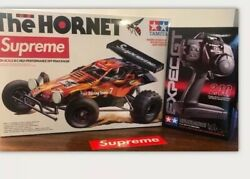 Supreme Tamiya Flame The Hornet R/c High Performance Off Road Racer In Hand