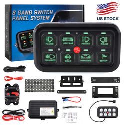 Universal 8 Gang Switch Panel Circuit Control Relay System Car Truck Boat Atv Us