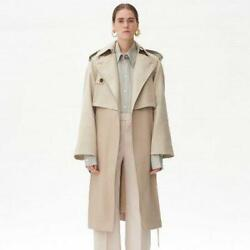 Celine Two-tone Trench Coat Double Face Beige Silk Cotton Spring'18 Phoebe 38