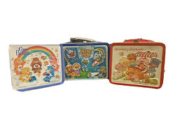 Vintage Aladdin Lot Of Lunch Boxes Care Bears/strawberry/muppet Babies