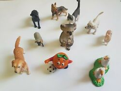 Lot Of Mixed 10 Rare Vintage Schleich, Bully, Herald, Germany Domestic Toys Dog