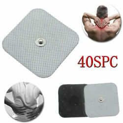 40x Snap On Replacement Electrode Pads For Tens Unit Self Adhesive Stud 2x2 Us