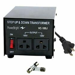 Powerbright Vc100j 100w Step Up And Down Japan Transformer Convert 120 To 100 V