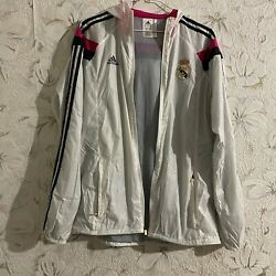 Adidas Menand039s Real Madrid Anthem Jacket Football Soccer 2014 Size L