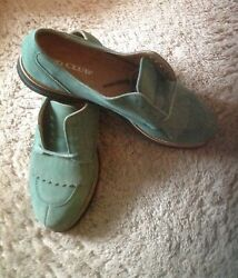 Womenand039s Vintage Izod Club Green Suede Leather Golf Shoes Kilties Sz F6nwot