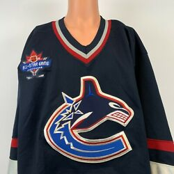 Ccm Authentic Vancouver Canucks Blank Jersey Vtg 90s 1994 All Star Game Patch 56