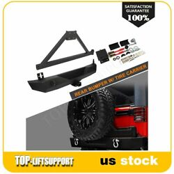 For Jeep Wrangler 2007-2016 2017 2018 Jk Rear Bumper With Tire Carrier And D-ring