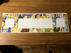 Speaker Panel Decal For The Simpsons Pinball Party Tspp