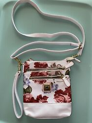 White Floral Print Crossbody Purse $12.00