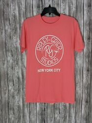 Womenand039s Peach/pink Coral Crew Neck T-shirt Ripley Grier Studio New York City