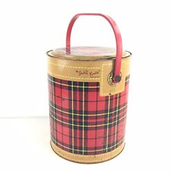 Vintage 1950's The Skotch Kooler 4 Gallon Deluxe By Hamilton Red Plaid
