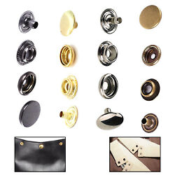 10/20/50/100 X 17mm Brass Large Brass Press Studs Buttons Sets For Clothing Bags