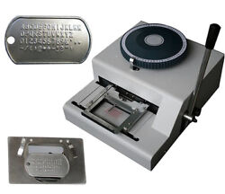 Dog Tag Embosser Machine 52 Characters Dog Steel Card Embossing Stamping Machine
