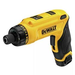 Dewalt 8v Max Cordless Gyroscopic Screwdriver With Handle And Battery Kit