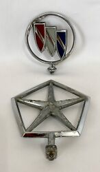 Lot Of 2 Vintage 1990and039s Dodge And Buick Car Hood Ornaments