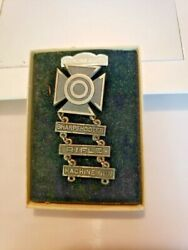 Wwii Us Army Machine Gun, Rifle And Sharpshooter Sterling Silver Ww2 Badge