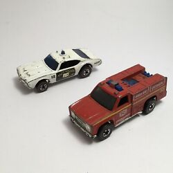 Hot Wheels Red Lines Emergency Squad And State Highway Police Car