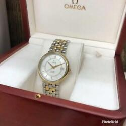 Omega De Ville K18 Combination Menand039s Used Watch Self-winding Beauty Goods