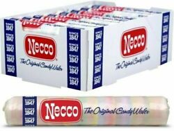 Necco The Original Candy Wafers - 2oz. Rolls 24 Pack Whole Box