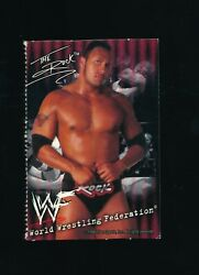 1999 Good Humor Ice Cream Wwf Wrestling Card The Rock Vg Or Better Swsw6