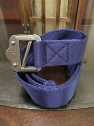 100 Authentic Rlx Expedition Web Nylon Belt Size Small Blue Royal