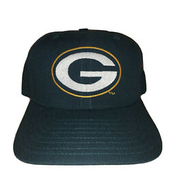 Vintage New Era Green Bay Packers Plain Logo Fitted Baseball Cap Hat Size 7 1/8