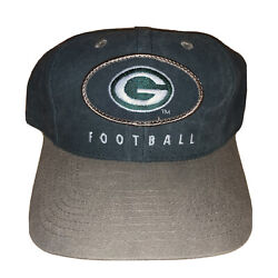 Vintage Green Bay Packers Hat Baseball Cap Snapback Adult Size Nfl Game Day
