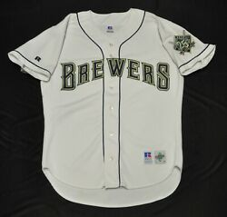 Milwaukee Brewers Jersey Blank Russell White Spell Out Authentic 25th Men 44 L