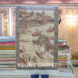 Yilong 2and039x3and039 Handcraft Carpets Silk High Density Antique Tapestry Area Rug 060h