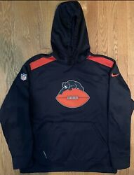 Men's Chicago Bears 1946 Throwback On Field Nike Therma Fit Hoodie Xl