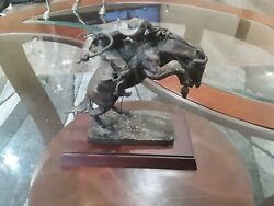 The Franklin Mint 1988 The Bronco Buster Frederic Remington