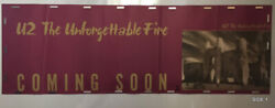 U2 The Unforgettable Fire_original 1984 Rare 2-sided Promo Poster 12 X 36