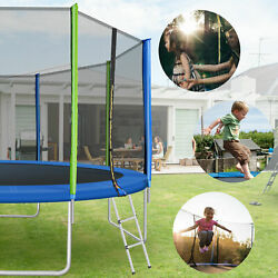 14ft Premium Trampoline With Enclosure Safety Nets Adult/kid Outdoors Trampoline