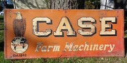 Large Vtg 72 X 30 Case Farm Machinery Heavy Metal Sign Eagle 1920and039s 30and039s Farm