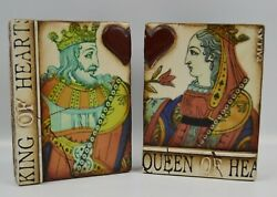 Sid Dickens Memory Tile Block T158 T161 King And Queen Of Hearts 2005 Retired