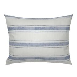 Blue Stripes Texture Stripe Woven Ticking Towels Decor Pillow Sham By Roostery