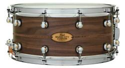 Pearl Music City Custom Solid Walnut 14x6.5 Snare Drum - Natural With Kingwoo...