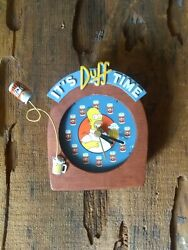 Vintage The Simpsons 3d Clock Homer Duff Beer Not Wkg-no Dial Cover- Man Cave