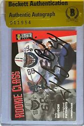 Tedy Bruschi Signed 1996 Collectorand039s Choice 37 Rc Beckett Bas Coa Bgs Patriots