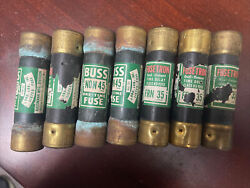 Fusetron Frn-r-35 Time Delay Fuse 35 Amp 250 Volts Lot Of 7